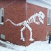 Awesome snow dinosaur