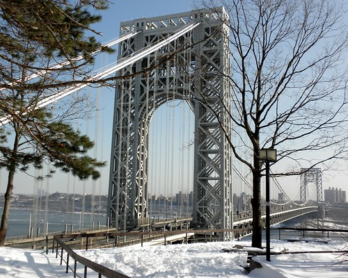 George Washington Bridge over Hudson River, New York-New Jersey