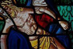 Bailly le Franc (Aube - France) détail d'un vitrail