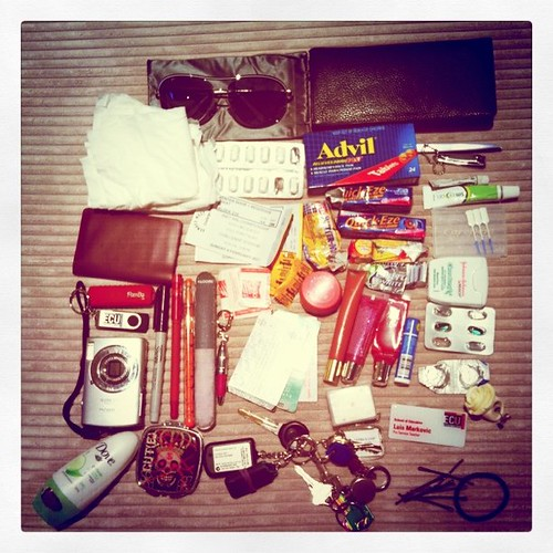 The average woman's handbag contents!