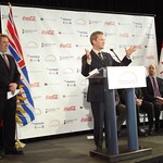 Minister of Health Services Colin Hansen joins Refreshments Canada and major Canadian non-alcoholic beverage companies as they change the way Canadians look at calories