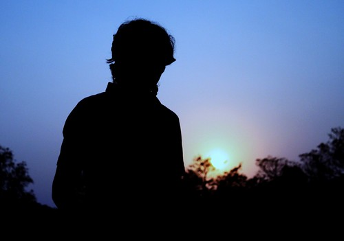 blue sunset portrait sky people sun face silhouette canon photography headshot digitalphotography 500d iitkgp 2011 kgp kharagpur neetesh neeteshg neeteshgupta
