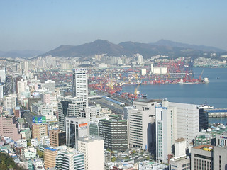 Busan Downtown and Harbor