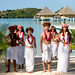Polynesian wedding at InterContinental Bora Bora Le Moana Resort