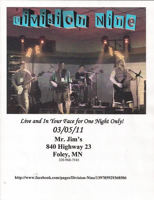 03/05/11 Division Nine @ Mr. Jim's, Foley, MN