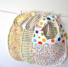 Baby Bibs Gift Set, Alphabet Collection