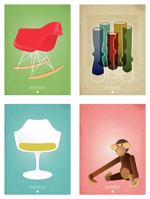 Mid Century Icons by One Little Bird
