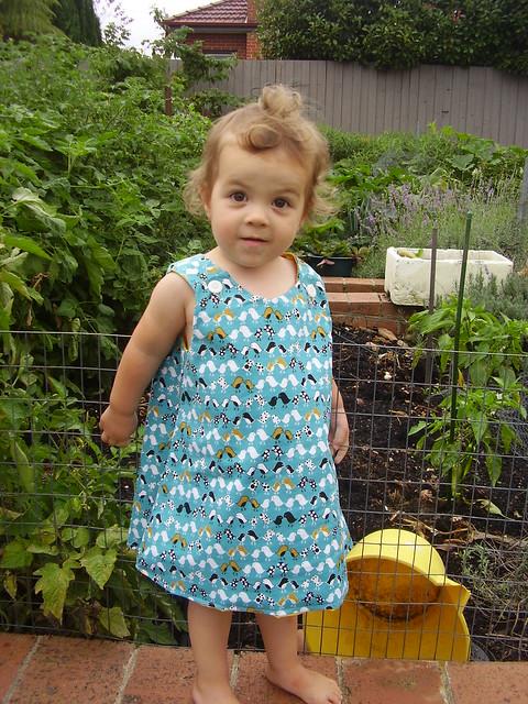 Infants Olivia Reversible Pinafore Sewing Pattern Tutorial PDF
