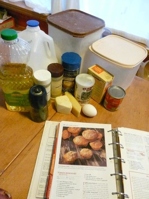 Tomato Rosemary Muffins - Ingredients and Recipe
