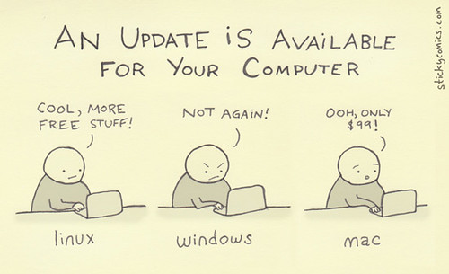 An update / upgrade is available for your [linux / windows / mac] computer...via @stickycomics
