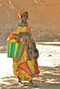 A Colorful Fulani Woman Diafarabe, Mali