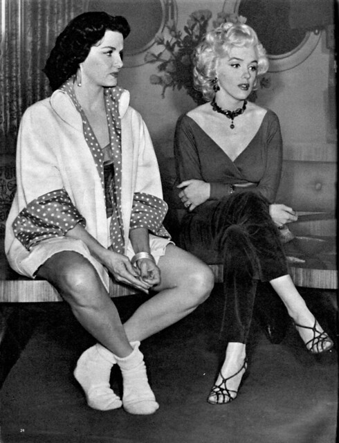 Jane Russell, Marilyn Monroe