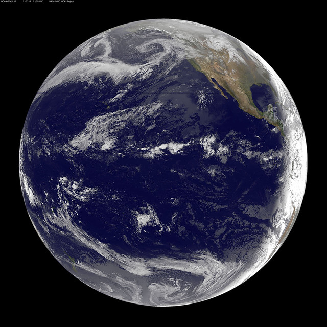GOES-11 Satellite Sees Pacific Ocean Basin After Japan Quake