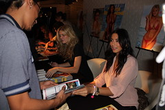 Sports Illustrated Swimsuit Model Jessica Gomes & Brooklyn Decker at STK's Autograph Signing Event in The Cosmopolitan of Las Vegas