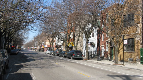 Looking west on West Taylor Street on a late Winter morning. Chicago Illinois USA. wednsday, March 16th, 2011. by Eddie from Chicago