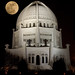 Supermoon over Baha'i