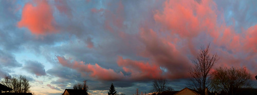 weather sunrise spring pano
