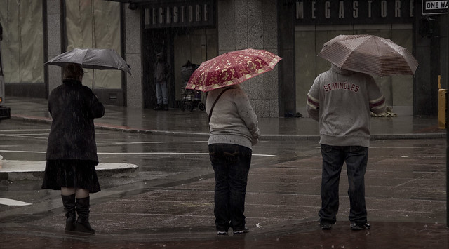 Rain in San Francisco; Market St (2011)