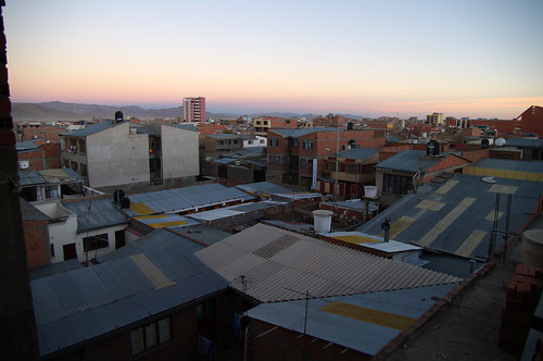 houses sunset house hotel town view dusk bolivia overlook oruro