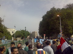 Military Forces Organizing the Entrance to Tahrir Square