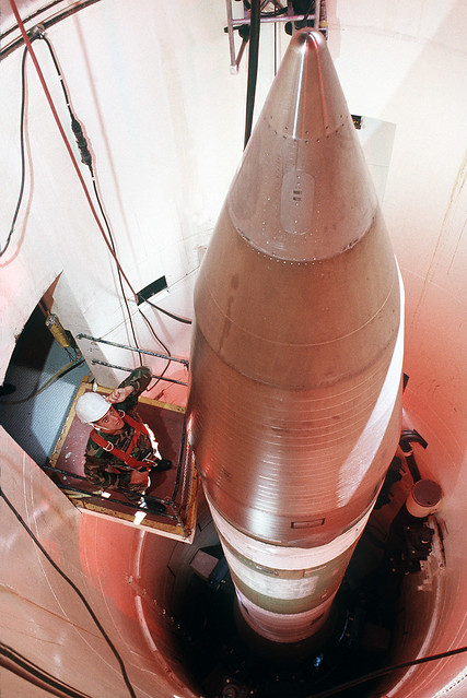 Minuteman missile by CC user expertinfantry on Flickr