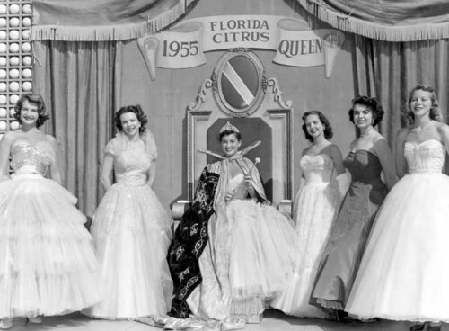 Miss Citrus Queen, Sally Ardrey, and Her Court: Winter Haven, Florida