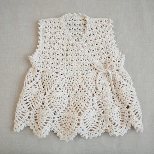 baby cotton crochet dress