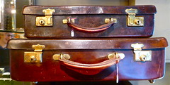 bag, leather, baggage, antique, suitcase,