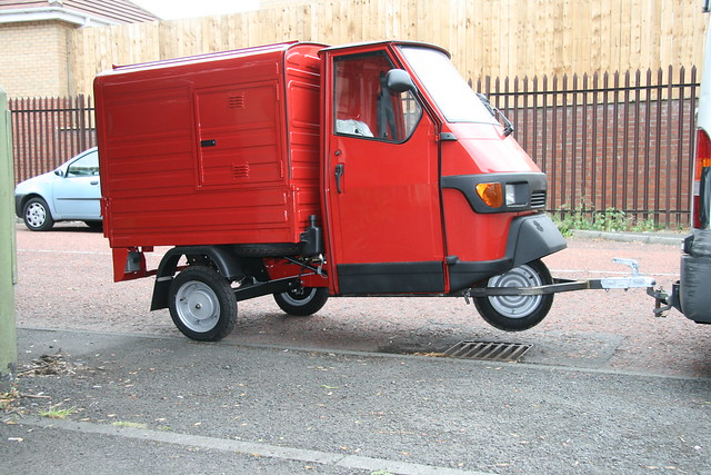 red piaggio ape 50 on tow flickr photo sharing. Black Bedroom Furniture Sets. Home Design Ideas