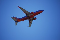 Southwest Airlines Boeing 737-700 takeoff