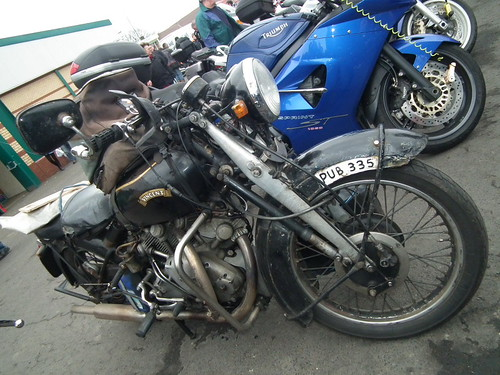 Vincent Rapide (?) motorcycle - 11th Classic Japanese/Modern Classic MC Show,Stoneleigh Park,Coventry_Feb 6th-2011