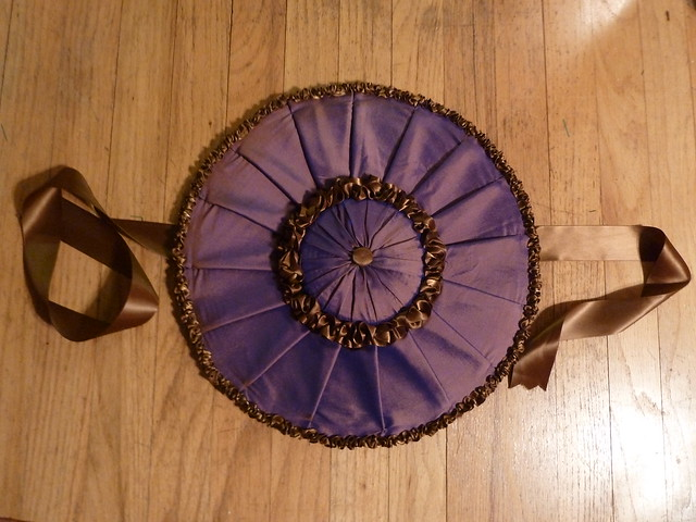18th century purple silk covered hat