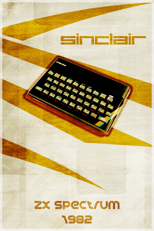 Sinclair ZX Spectrum - Retro Poster