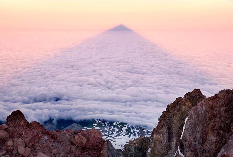 THE MOUNTAIN SHADOW -- Mount Hood, OR