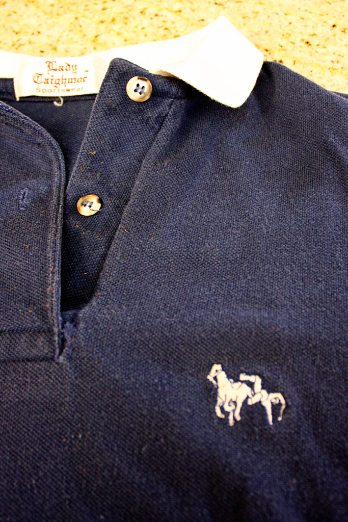 Polo Shirt Man Falling Off Horse I Was Cleaning Out A Clo Flickr