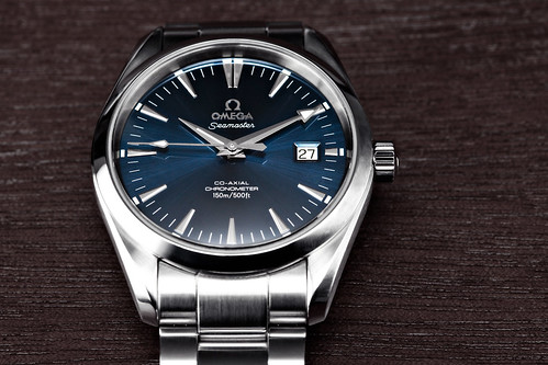 Omega Aqua Terra 8500 Movement In Sunburst Blue