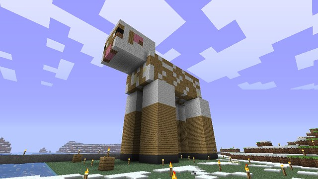 Minecraft Sheep Scaled Up