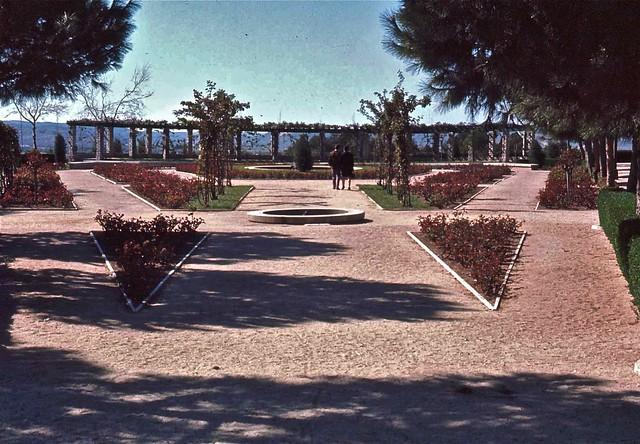 Rosaleda del Parque de la Vega (Paseo de Merchán) en Toledo hacia 1967. Fotografía de John Fyfe