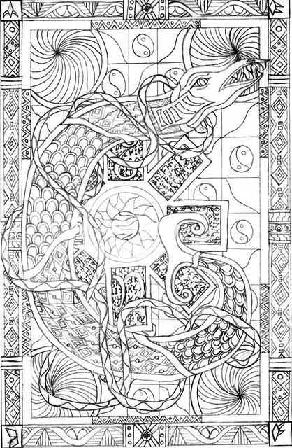 illuminated alphabet coloring pages free - photo#24