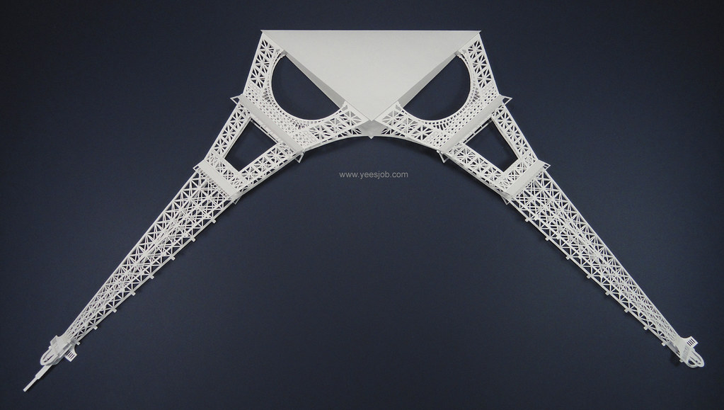 Eiffel Tower foldable