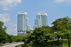 Le Meridien and Hilton Hotel at KL Sentral in Kuala Lumpur, Malaysia