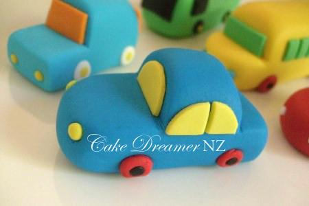 Cake With Fondant Cars : Car Fondant Cake Topper Flickr - Photo Sharing!