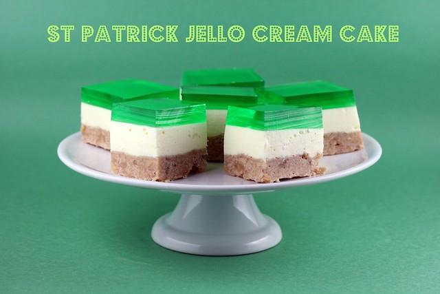 St Patrick Jello Cream Cake