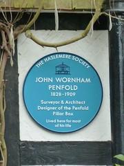 Photo of John Penfold blue plaque