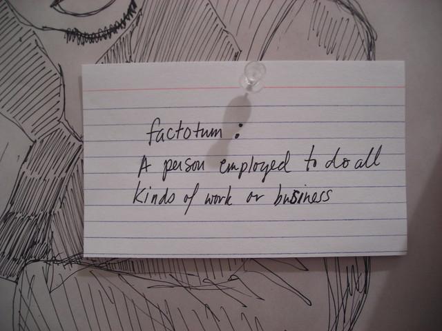 Factotum – Sarah Nicholls