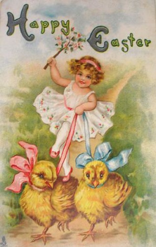 vintage-easter-harness-chicks-card by mrjlnvssr