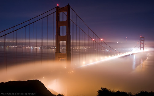 Golden Gate Night Fog