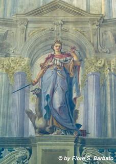 Image of Castel Capuano. italy campania napoli affreschi fresco castel affresco capuano frescoes castelcapuano