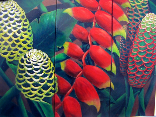 """Tropical flowers"" (Painting)"