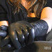 Tinsley in Squeaky Black Leather Gloves